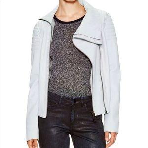 Elie Tahari Leather Moto Jacket